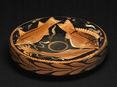 Fish-plate attributed to Asteas and Python BC) from Paestum - British Museum Greek Pottery, Fish Plate, Museum Shop, Detailed Image, British Museum, Most Beautiful Pictures, Decorative Bowls, Python, Plates