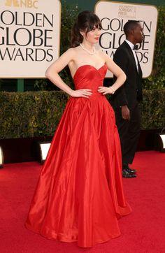 Zooey Deschanel, 70th Annual Golden Globe Awards, 2013  -Cosmopolitan.com