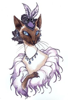 Siamese Cat Lady by liselotte-eriksson on DeviantArt