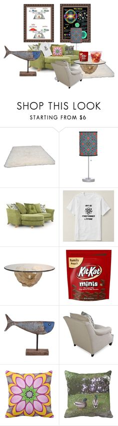 """""""A small room"""" by ziernor ❤ liked on Polyvore featuring interior, interiors, interior design, home, home decor, interior decorating, nuLOOM, Foreside and Bernhardt"""