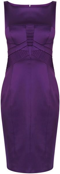This piecing is subtle but very effective. ~ Karen Millen Sharp Satin Dress