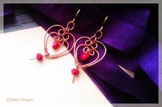 Intertwisted heart earrings