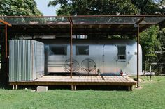 Newly Renovated Airstream In Gated Fenced In Backyard Of