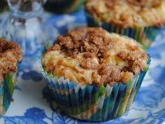 Muffins de strudel de manzana