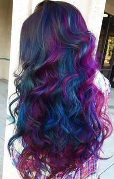 Cosmic Oil Slick ~ have been wanting to do peacock shades in my hair and this is what I imagined (color for hair fun)