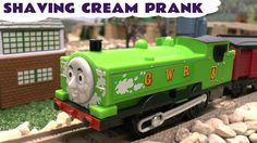Thomas and Friends Happy Trains Shaving Cream Prank Thomas The Tank Engi...