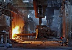 Open hearth steel mill. Donetskstal, Ukraine.  by Viktor Macha, via Flickr