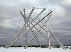 KENNETH SNELSON | V-X, 1968 stainless steel 10 x 14 x 14 feet 3 x 4.3 x 4.3m Columbus Museum of Art, Columbus, OH