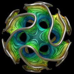The Hyperbolic Geometry of DMT Experiences: Symmetries, Sheets, and Saddled Scenes Glass Marbles, Glass Beads, Computer Kunst, Sculpture Art, Sculptures, Art Fractal, 3d Prints, Glass Paperweights, Objet D'art