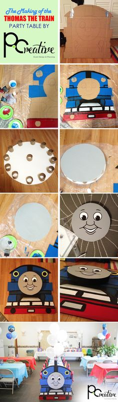 These 21 top Thomas the Train party ideas will have you on track for a perfect celebration for your train-loving little boy! This wide variety of ideas includes fun DIYs like making your own train Thomas Birthday Parties, Thomas The Train Birthday Party, Trains Birthday Party, Birthday Party Tables, Train Party, Birthday Fun, Table Party, Birthday Ideas, Birthday Board