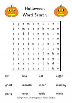 heres the trickiest of our three printable halloween word search puzzles for kids - Printable Halloween Word Searches