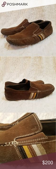 🍒Price Drop🍒TOD'S LOAFERS These Tods loafers are highly sought after. They are brown suede with some gorgeous striped detailing, super comfy and super durable. These loafers have the rubber dot soles. They retail for nearly $400 new. Tod's Shoes Loafers & Slip-Ons