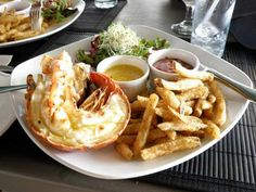Lobster Tail and Fries