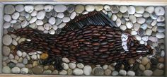 Commissioned mosaic ready to cast, based on images of goldfish on a chinese bowl.