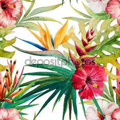Тропический образец - Векторная картинка: 71314019