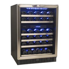 "Danby Silhouette 51 Bottle 24"" Built In Dual Zone Wine Cooler Video Image"