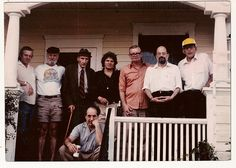 The Beats. Renegades. Rebels. Mystics and poets. Their influence over the generations has been profound. Image by Vernacular on Flickr. Details: Peter Orlovsky, Lawrence Ferlinghetti, William Burroughs, Gregory Corso, John Clellon-Holmes, Allen Ginsberg, Carl Solomon, (seated) Robert Frank