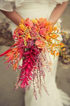unique-wedding-boquet-cascade-orange-8.jpg 660×991 pixels