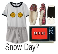 """snow day tomorrow or nah??"" by sammi-mo ❤ liked on Polyvore featuring Chicnova Fashion, Forever 21 and Dearfoams"