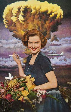 Vaqueros espaciales y damas atómicas llenan los collages de Living Couch | The Creators Project