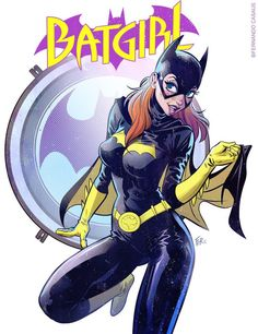 Batgirl pin'up (2016) Clip studio + Photoshop - Visit to grab an amazing super hero shirt now on sale!