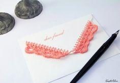 Crochet envelopes.