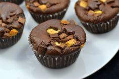 Cocoa Hazelnut Paleo Muffins (Sugar-Free, Gluten-Free)