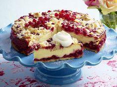 Quarkkuchen mit Johannisbeeren backen - so geht's - quarkkuchen-rezept Rezept