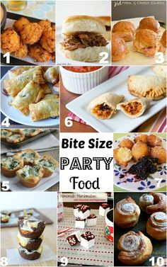 10 Bite Size Party Food Features