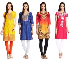 Buy Women's Kurtas/Kurtis At Rs 299 Lowest Online Price From Amazon GOSF 2014 India. Best For Office Wear.