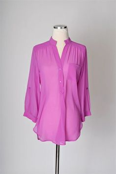 Sheerly Chic Top - Violet