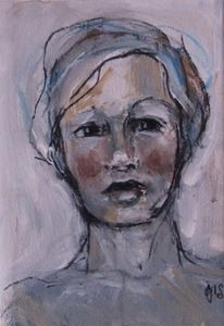 Image of Small Painted Portrait  - Caris, Gillian Lee Smith