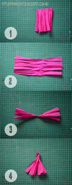 Souvenirs y decoración para ocasiones especiales: Guirnaldas de papel crepé