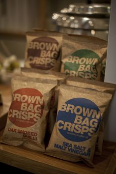 Brown Bag Crisps. Very tasty they are too!