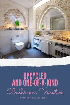 Bathrooms can be expensive, and many bathroom vanities can almost end up looking either too generic or too out of place depending on the color scheme of the bathroom of the material the vanity is made of. #home #decor #homedecor #bathroomdecor #vanities