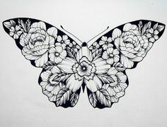 Butterfly tattoo, flower tattoos, cute tattoos, new tattoos, makeup tattoos Lace Butterfly Tattoo, Butterfly Drawing, Butterfly Tattoo Designs, Flower Tattoos, Butterfly Watercolor, Makeup Tattoos, Body Art Tattoos, Tattoo Drawings, New Tattoos