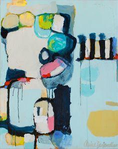 """Split Second"" by Claire Desjardins. 22""x28"" - Acrylics on canvas."