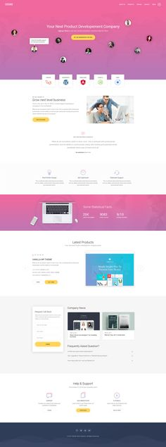 SuMo Single Page Creative PSD Template