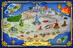 Masters of the Universe Classics Club Eternia - Map of Preternia Viewer - ActionFigurePics.com