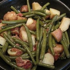 Southern Green Beans Allrecipes.com We love these....fresh beans are best but frozen work too! Sue