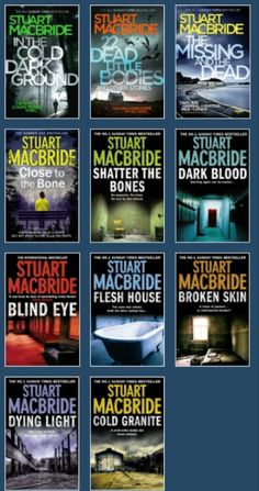 U.K.Author Stuart MacBride's Dect.Sgt. Logan McRae series great murder/mystery plots with bits of dark humor and supporting characters. Books are in order of newest to oldest.