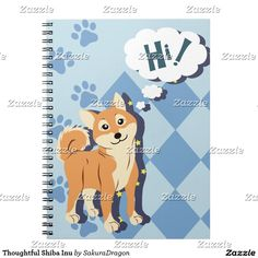 Thoughtful Shiba Inu Spiral Notebook #dogs #pets #animals #shibainu #puppy