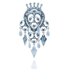 """Heart Brooch (Hjertesolje)    Other names for a Heart brooch are """"Maria brooch"""" or """"Crown brooch"""". These brooches symbolize Virgin Mary's (or Mary Magdalena's) pure love, which was crowned with luck. Because of this, the heart brooch is used as a love symbol on the Bunad."""
