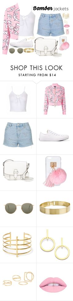"""""""Untitled #745"""" by sophia-etr ❤ liked on Polyvore featuring Boutique Moschino, Topshop, Converse, MICHAEL Michael Kors, Ashlyn'd, Ray-Ban, BauXo, Vita Fede, MANGO and Nails Inc."""