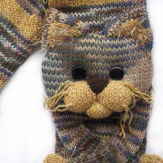 Gestrickte Katze Schal Schal gestrickt von NPhandmadeCreations