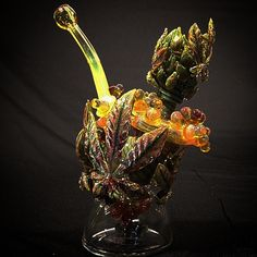 I always love some especially gorgeous Instafire. Check out this worked nugget rig by Mr. Gray Glass.