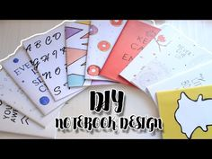 DIY Канцелярия на Бюджете Декор ТЕТРАДЕЙ Fake Lettering Bubenitta - YouTube