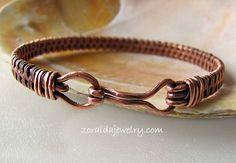 wire woven bangle bracelets | Copper Wire Woven Bracelet Size 8 for Men or Women | zoraida - Jewelry ...