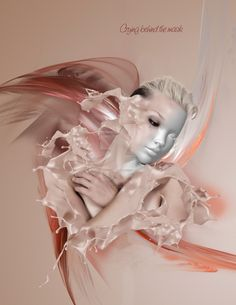 CRYING BEHIND THE MASK by JustAboutArt.deviantart.com on @DeviantArt #art #photoshop #photomanipulation #digitalart