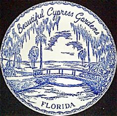 Cypress Gardens, Florida Cypress Gardens, Old Florida, Decorative Plates, Tableware, Beautiful, Souvenir, Dinnerware, Tablewares, Dishes